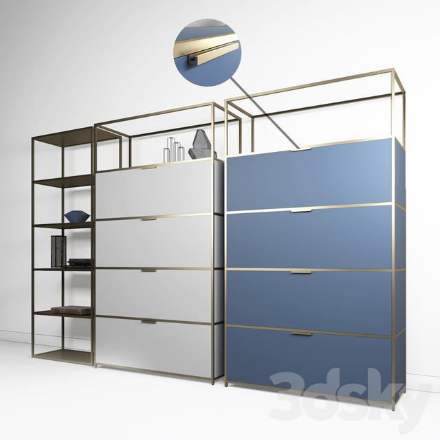 3d Models Sideboard Chest Of Drawer Ligne Roset Dita High Unit