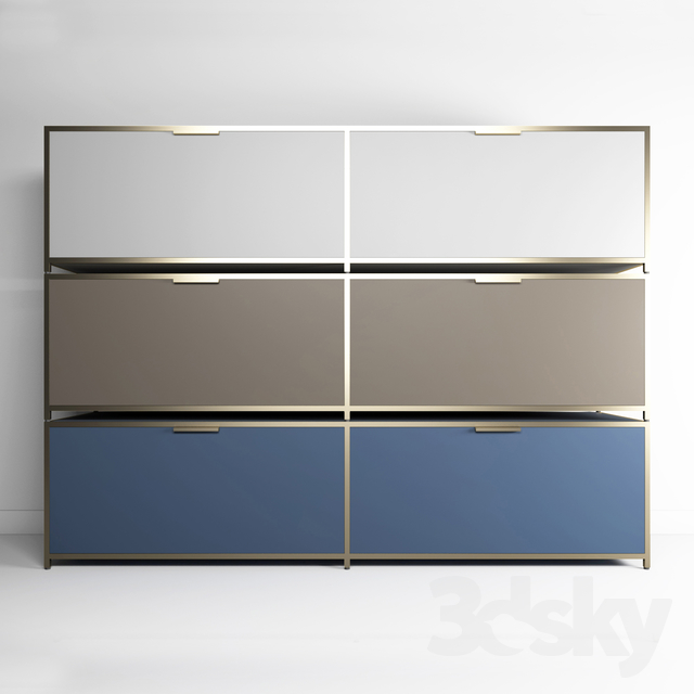 3d Models Sideboard Chest Of Drawer Ligne Roset Dita Dita Tv