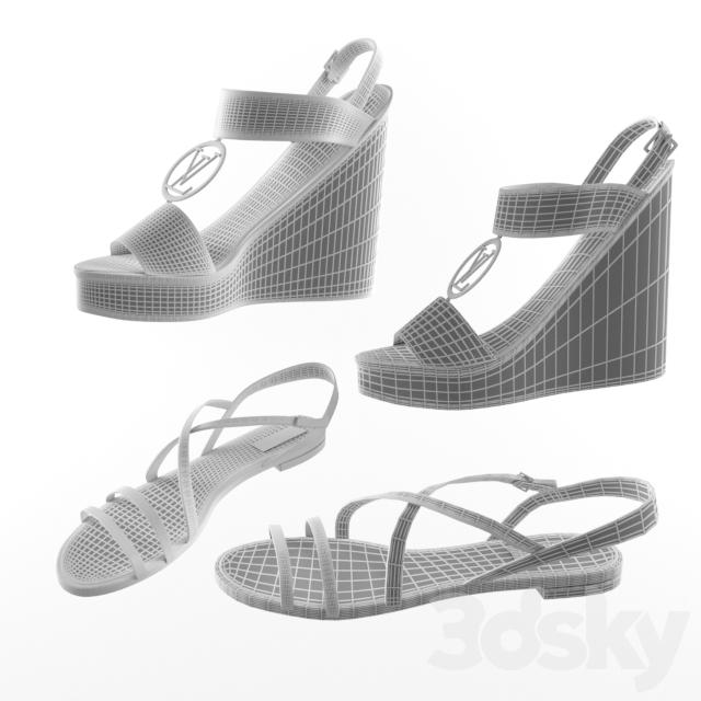 0fe5076c274f 3d models  Clothes and shoes - Sandals Louis Vuitton