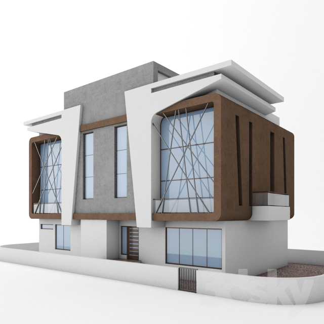 3dSkyHost: Bungalow 3d model