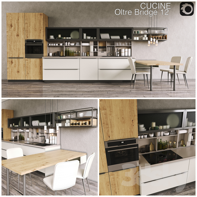 3d models kitchen kitchen cucine lube oltre for Prezzo cucine lube