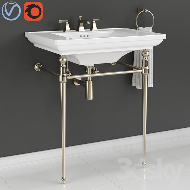 "KOHLER ""Memoirs"" Console Table Bathroom Sink"