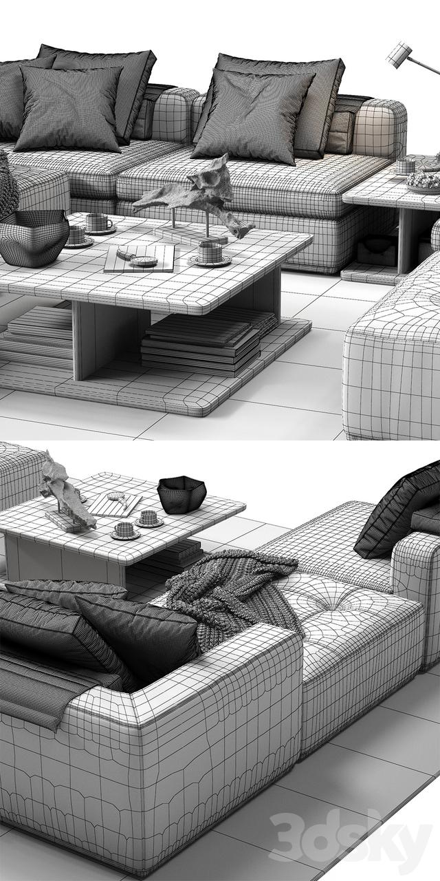 3d Models Sofa Molteni Amp C Albert Corner Sofa