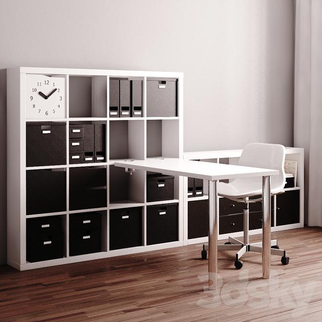 Wondrous 3D Models Office Furniture Ikea Kallax Workstation Download Free Architecture Designs Osuribritishbridgeorg