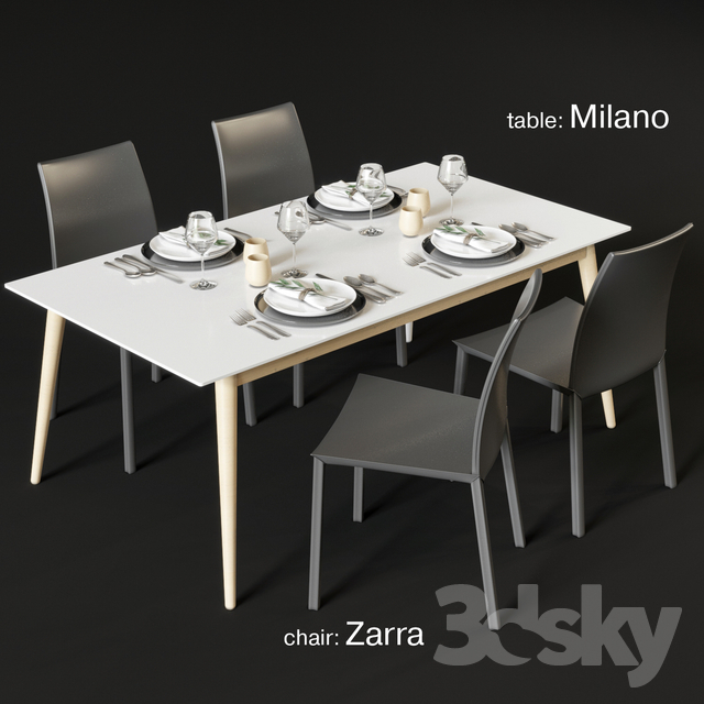 Fantastic 3D Models Table Chair Dining Table And Chairs Boconcept Uwap Interior Chair Design Uwaporg