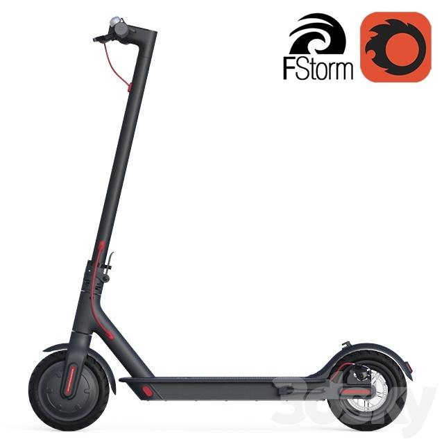 3d models transport electric scooter xiaomi. Black Bedroom Furniture Sets. Home Design Ideas