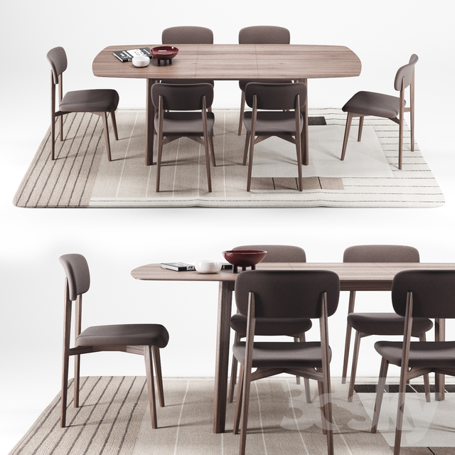 Calligaris Cream Table + Stockholm Chair