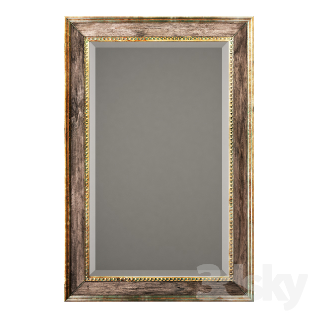Uttermost quintina burnished pine frame and antiqued gold leaf mirror