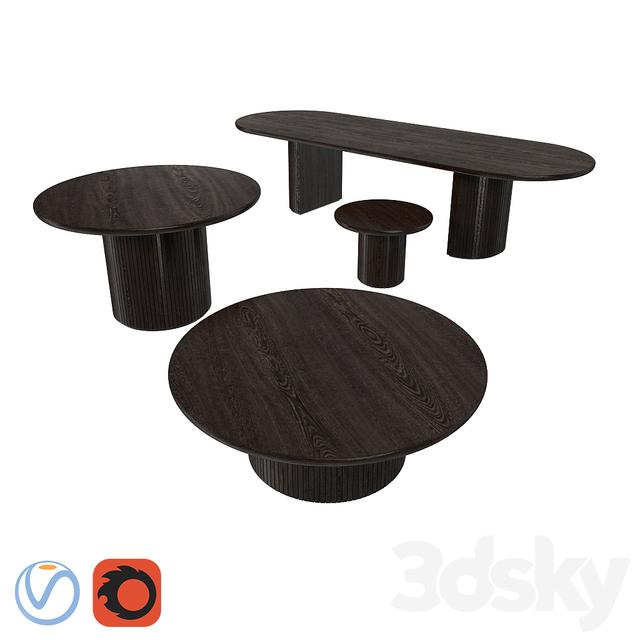 3d Models Table Gubi Table Moon Set