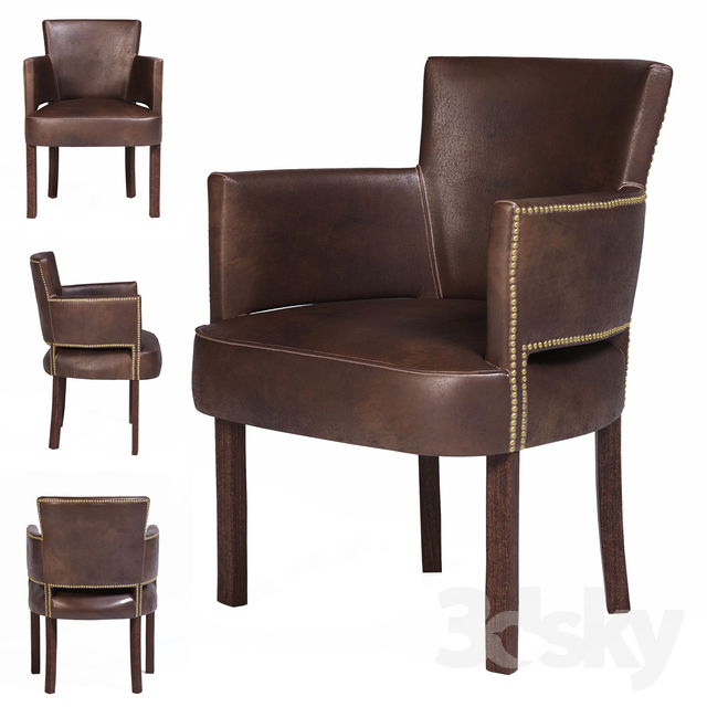 Superb 3D Models Chair Halo Established Newark Dining Chair Pabps2019 Chair Design Images Pabps2019Com