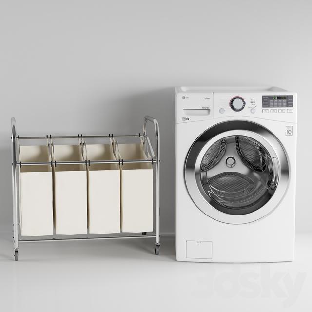 LG Washer in White WM3770HW