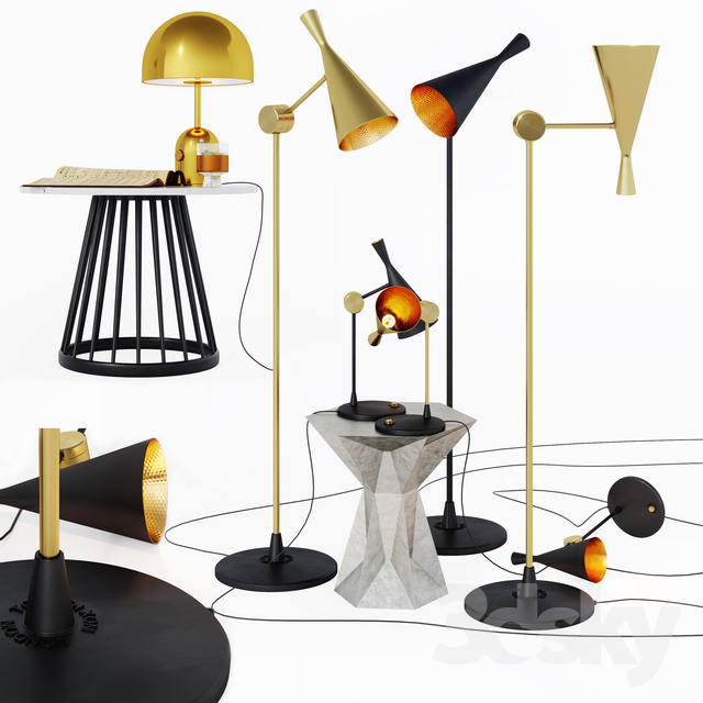 Tom Dixon lamps and tables
