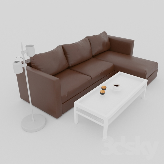 Wondrous 3D Models Sofa Ikea Vimle Leather Sofa Gmtry Best Dining Table And Chair Ideas Images Gmtryco