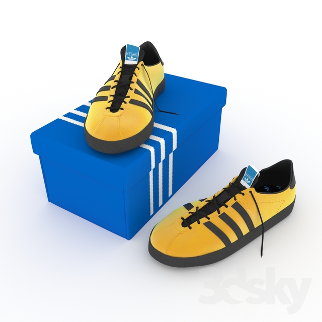 3d models: Clothes and shoes - adidas jamaica shoes
