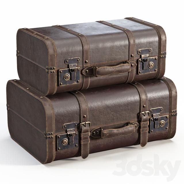 Brown Vintage Suitcases