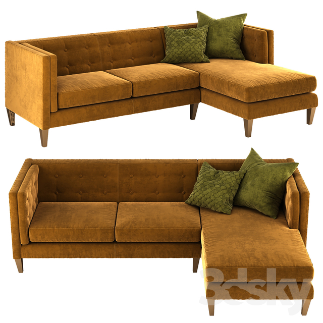 Awesome 3D Models Sofa Crate And Barrel Aidan Sectional Sofa Gmtry Best Dining Table And Chair Ideas Images Gmtryco