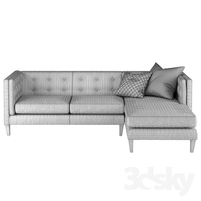 Wondrous 3D Models Sofa Crate And Barrel Aidan Sectional Sofa Gmtry Best Dining Table And Chair Ideas Images Gmtryco