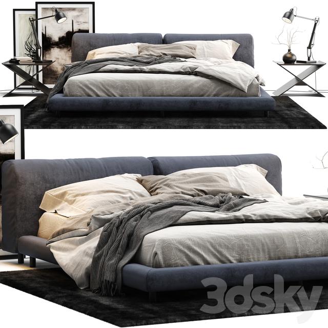 3d models bed living divani softwall bed for Living divani softwall