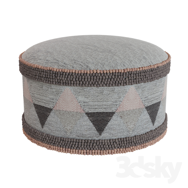 Strange 3D Models Other Soft Seating Rh Geometric Woven Pouf Pdpeps Interior Chair Design Pdpepsorg