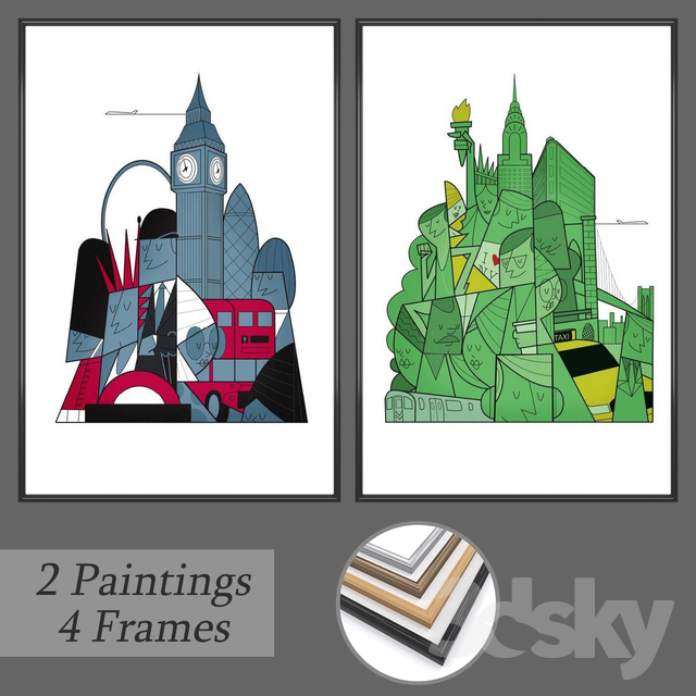 Set of wall paintings No 155