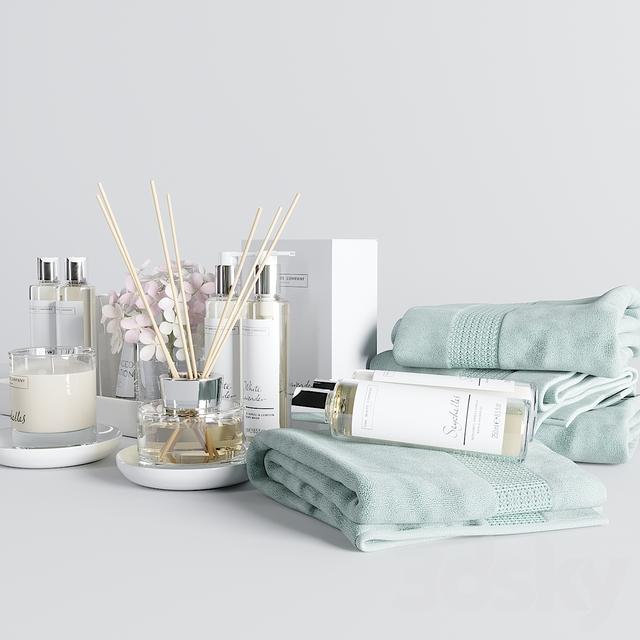 3d Models Bathroom Accessories The White Company Bath Set