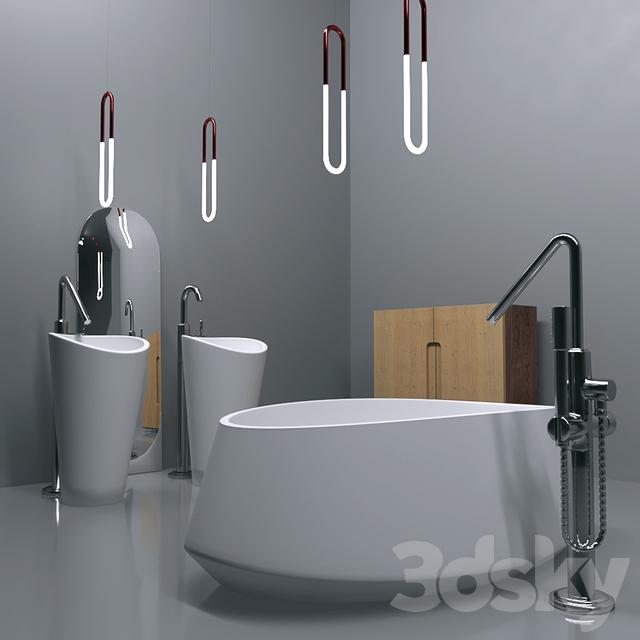 Set furniture for washroom