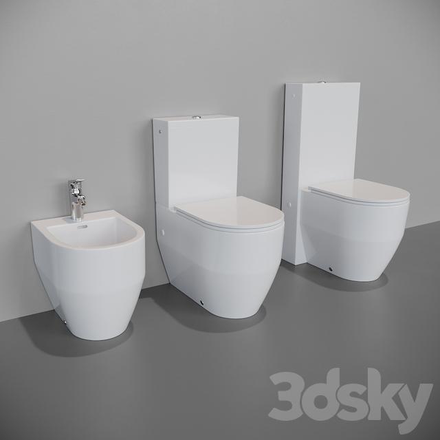 3d Models Toilet And Bidet Laufen Pro