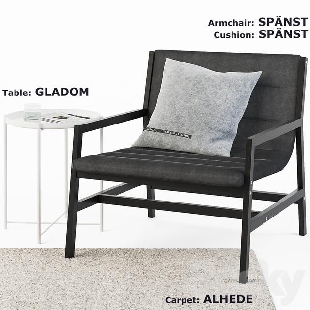 IKEA SPANST, ALHEDE, GLADOM SET
