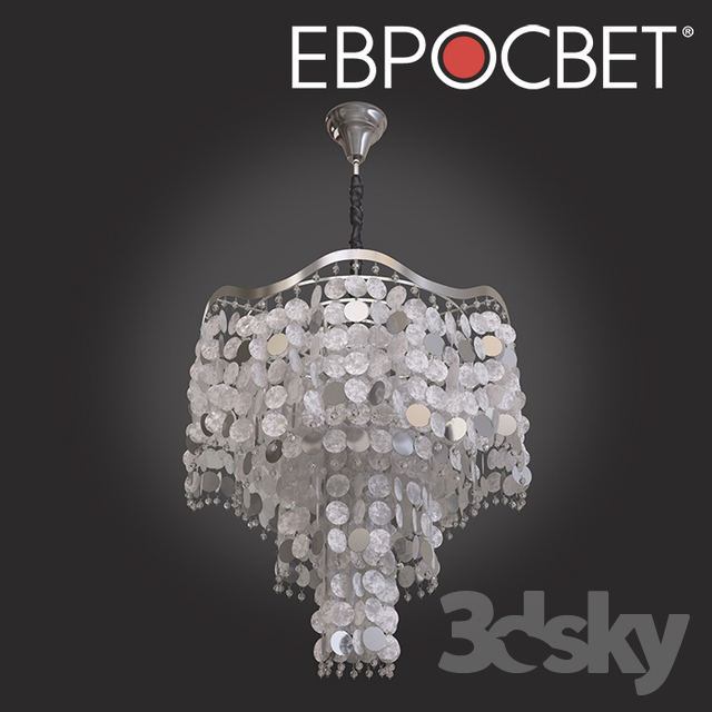 OM Chandelier with Bogate's Mother of Pearl 279/6 Shelly