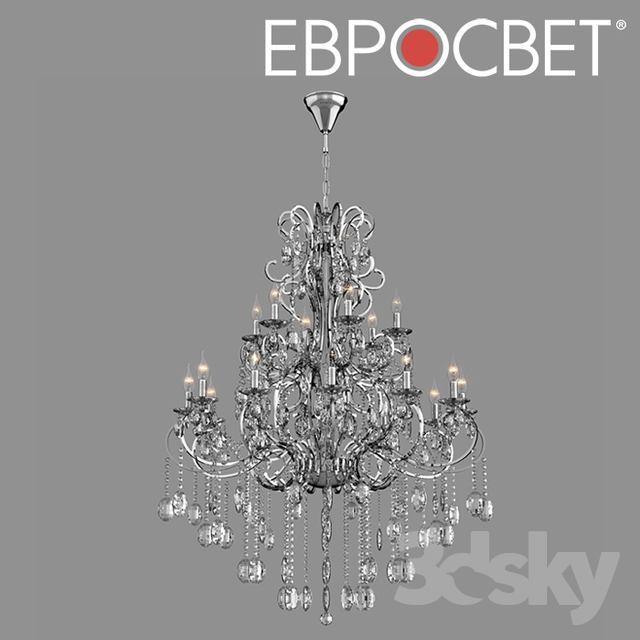 OM Chandelier with Bogate's Crystal 253/18 Strotskis