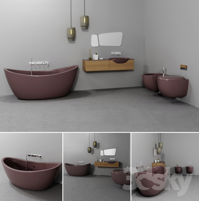 Bathroom furniture set mix