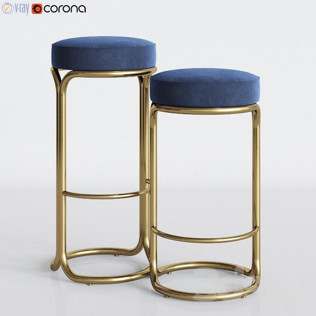 Fabulous 3D Models Chair Cora Velvet Leather Bar Counter Stool Ibusinesslaw Wood Chair Design Ideas Ibusinesslaworg