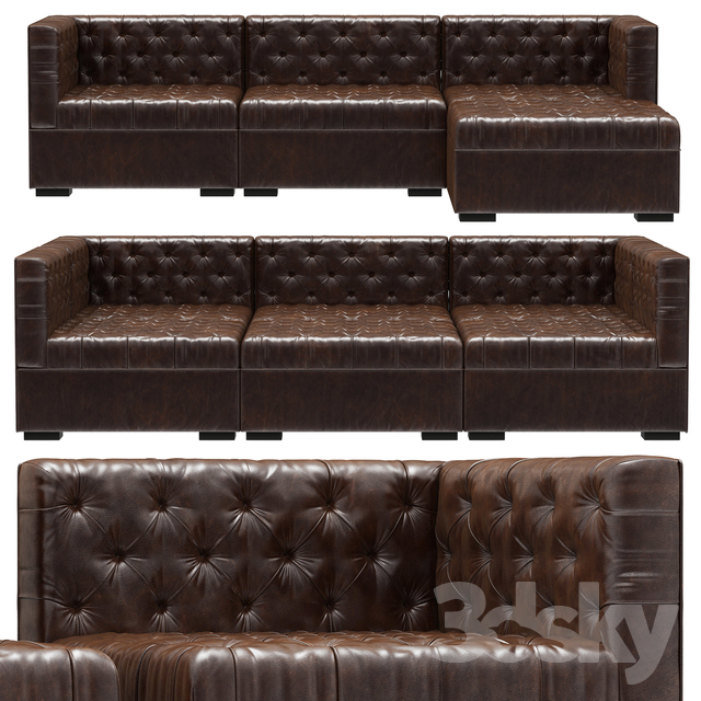 Magnificent 3D Models Sofa Rh Teen Everly Modular Lounge Customizable Download Free Architecture Designs Scobabritishbridgeorg