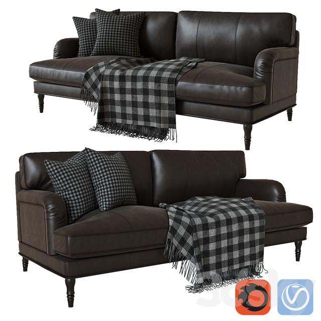 3d models: Sofa - Ikea stocksund leather