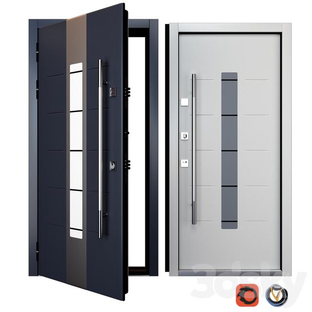 Entrance metal door Inox S-1 (Your Frame)