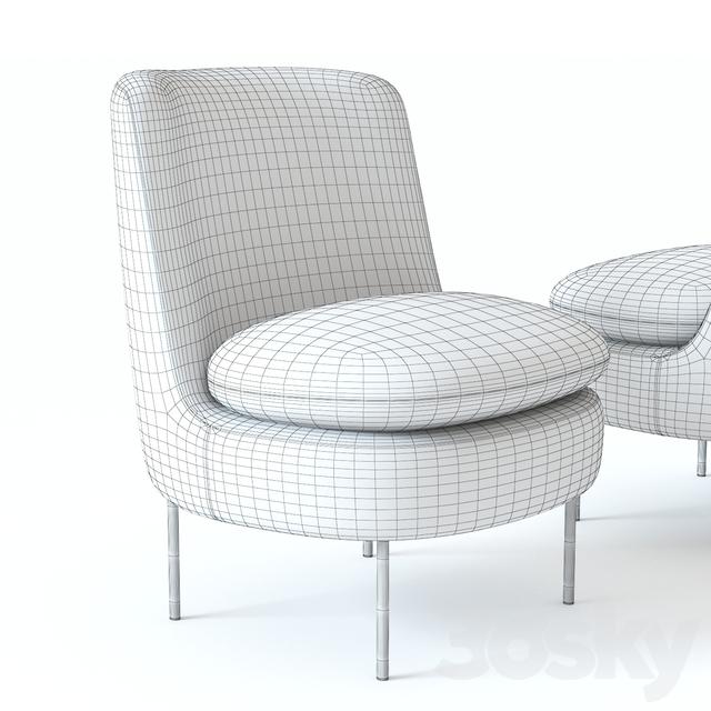 Surprising 3D Models Arm Chair West Elm Modern Curved Chair Inzonedesignstudio Interior Chair Design Inzonedesignstudiocom