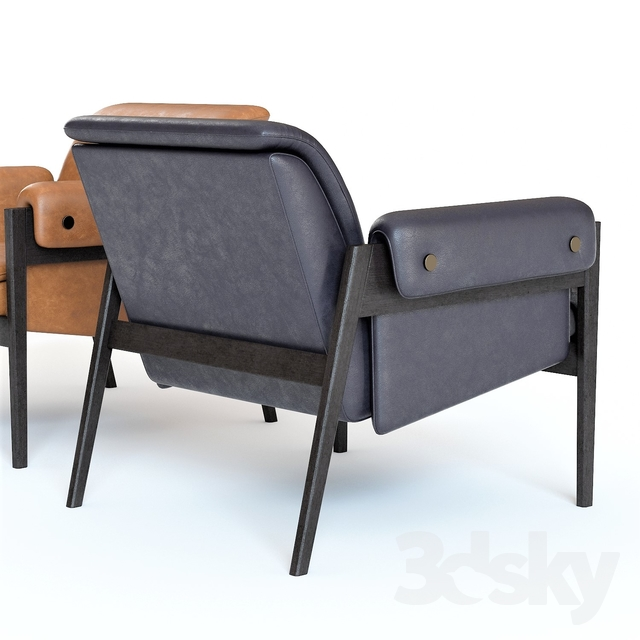 Surprising 3D Models Arm Chair West Elm Stanton Leather Chair Alphanode Cool Chair Designs And Ideas Alphanodeonline