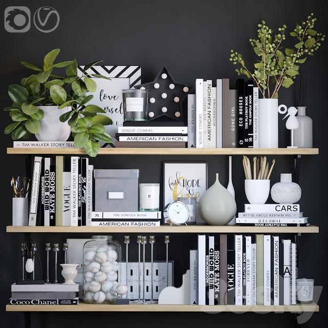 Black and white decor set 5