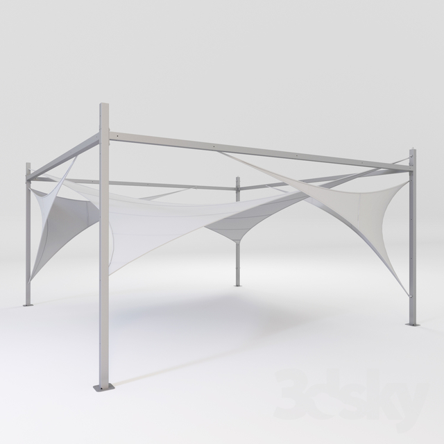 3d models: Other architectural elements - beach canopy