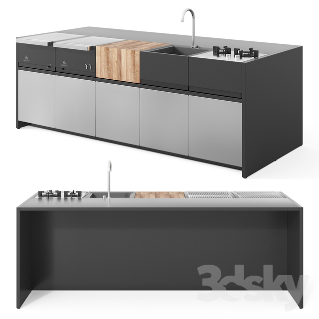 3d models: Kitchen - Roshults Outdoor Modular Kitchen ...