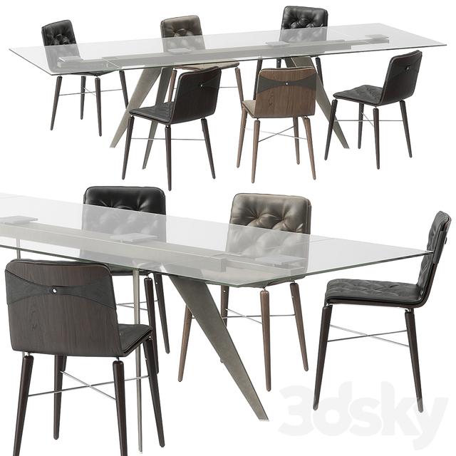 Bontempi Ramos table Kate chairs set