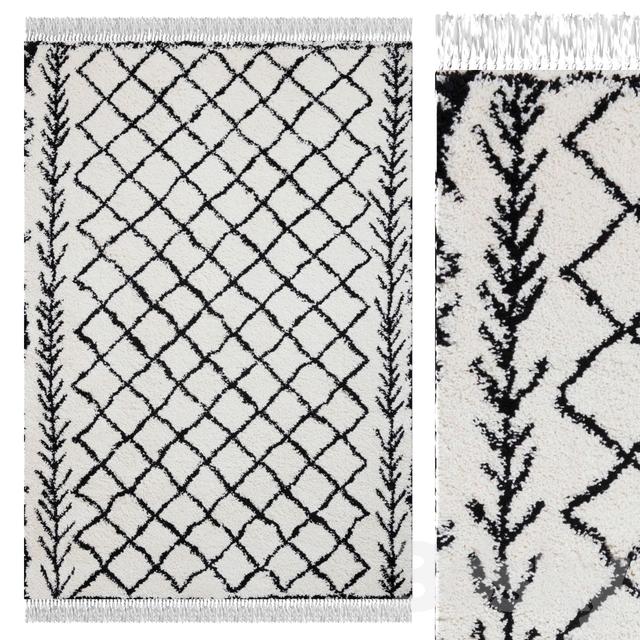 Carpet Think Rugs Boho 7043 White / Black