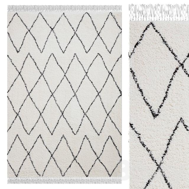 Carpet Think Rugs Boho 8280 White / Black