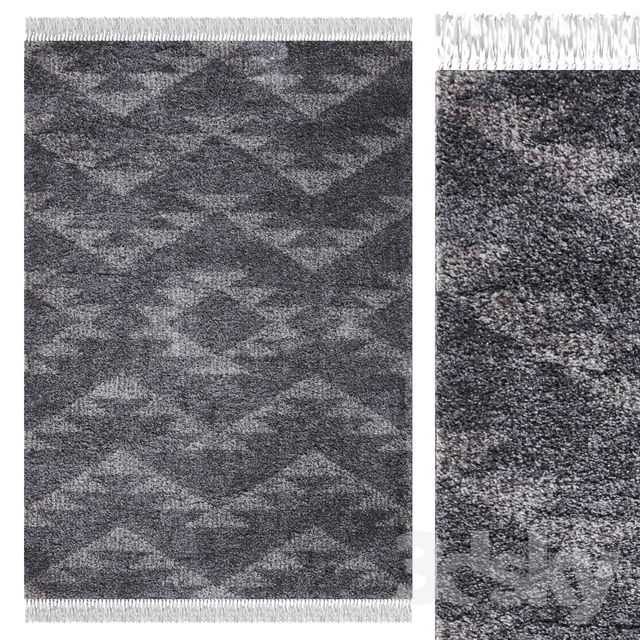 Carpet Think Rugs Boho 8733 Charcoal