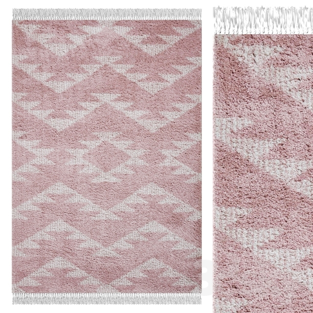 Carpet Think Rugs Boho 8733 Rose
