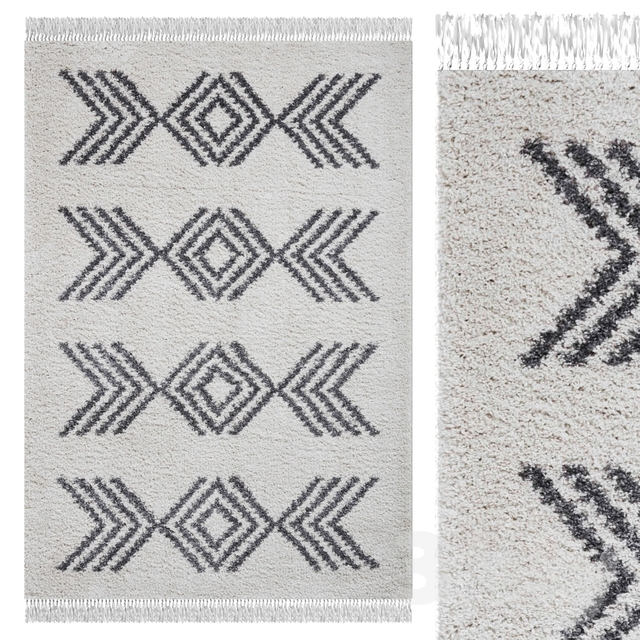 Carpet Think Rugs Boho 8886 Cream / Gray
