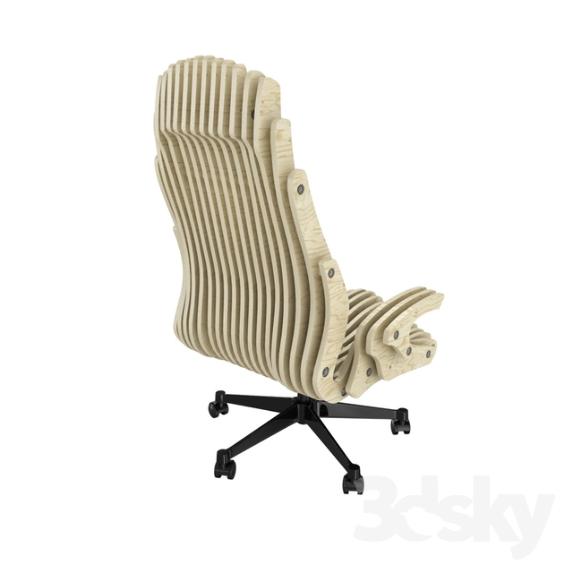 Cnc plywood office chair