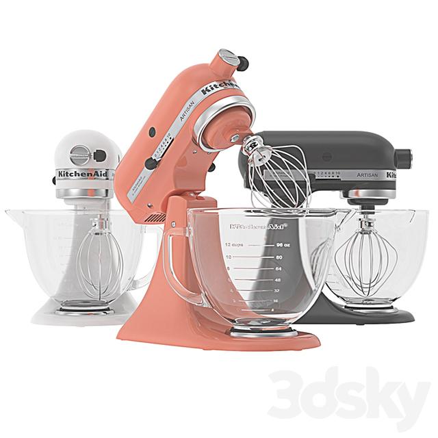 3d models: Kitchen appliance - KitchenAid - Artisan Stand Mixer