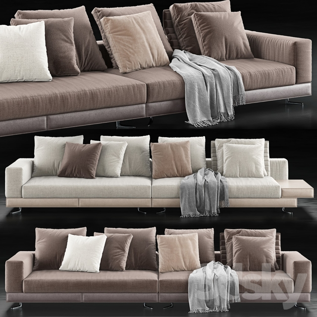 Prime 3D Models Sofa Minotti White Saddle Hide Sofa Caraccident5 Cool Chair Designs And Ideas Caraccident5Info