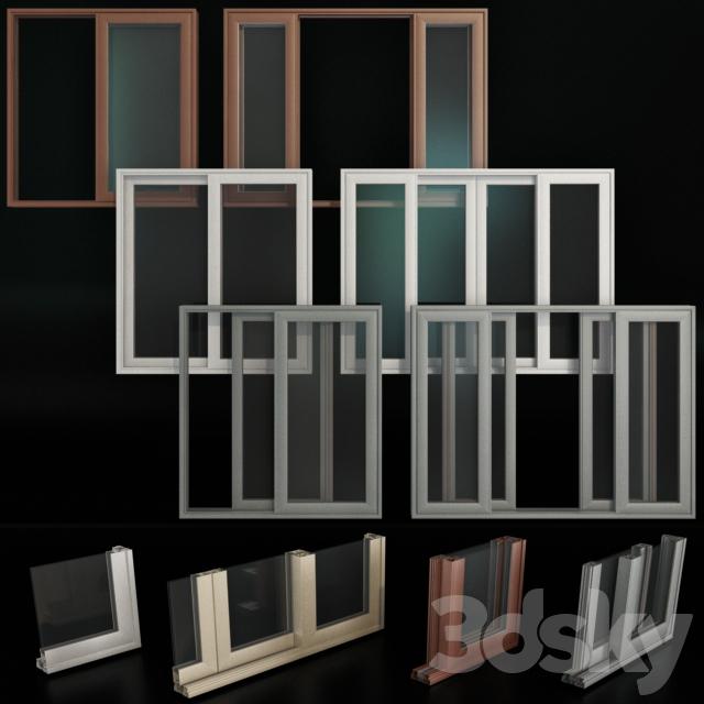 Sliding Stained Glass Aluminum Doors